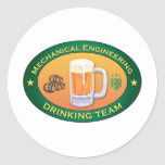 Mechanical Engineering Drinking Team Stickers
