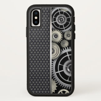 Mechanical Engineering Gears and Mesh Pattern iPhone X Case
