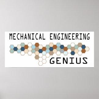 Mechanical Engineering Genius Poster