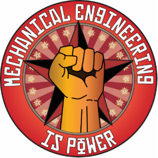 Mechanical Engineering Is Power Statuette