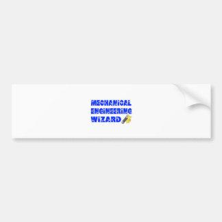Mechanical Engineering Wizard Bumper Stickers