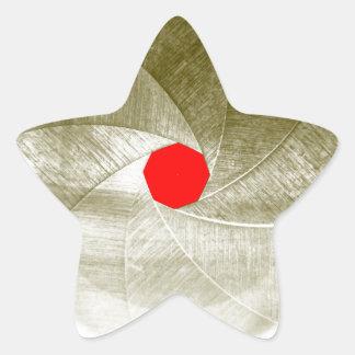 mechanical eye star sticker
