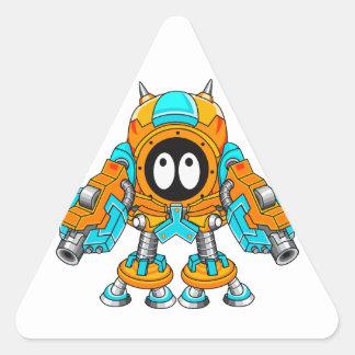 Mechanical Fighter Gespzam Triangle Sticker
