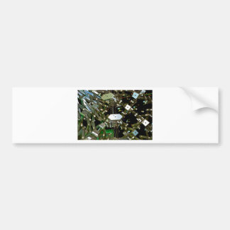 Mechanical Flex Abstraction Bumper Sticker