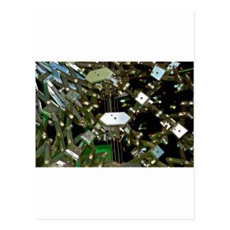 Mechanical Flex Abstraction Postcard