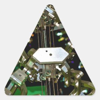 Mechanical Flex Abstraction Triangle Sticker