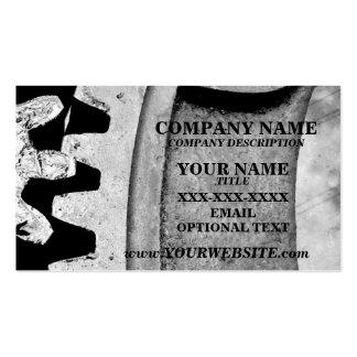 MECHANICAL GEARS - Business Card Template