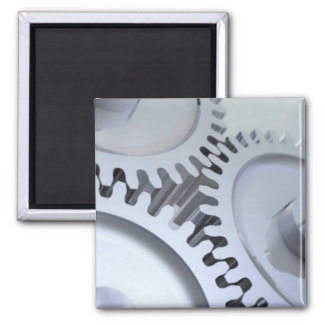 Mechanical Gears 2 Inch Square Magnet