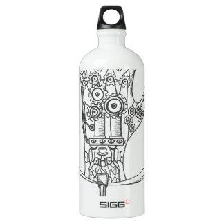 Mechanical Hand Aluminum Water Bottle
