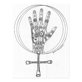 Mechanical Hand Postcard