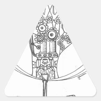 Mechanical Hand Triangle Sticker