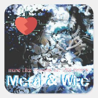 Mechanical Heartbeat Sticker #1 Metal & Wire