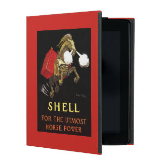 Mechanical Horse with Shell Oil iPad Cover