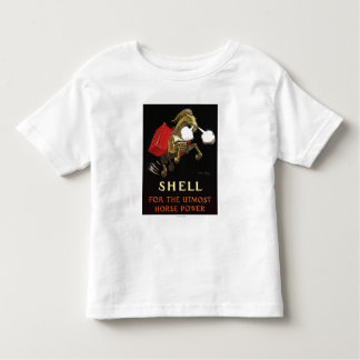 Mechanical Horse with Shell Oil Toddler T-shirt