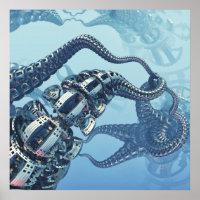 Mechanical Kraken Poster