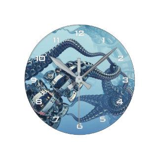 Mechanical Kraken Wall Clock