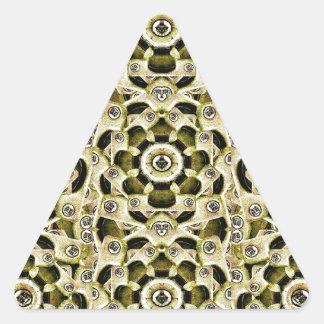 Mechanical Machine Pattern Triangle Sticker