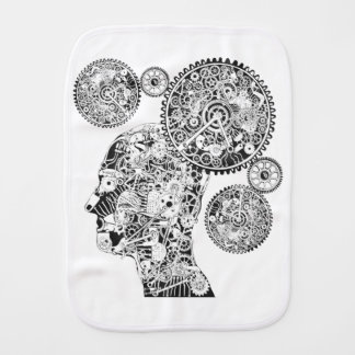 Mechanical Man Burp Cloth