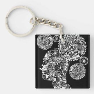 Mechanical Man Keychain
