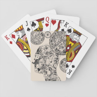 Mechanical Man Playing Cards