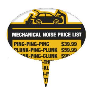 Mechanical Noise Price List Cake Topper
