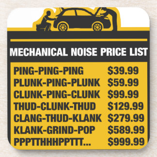Mechanical Noise Price List Drink Coaster
