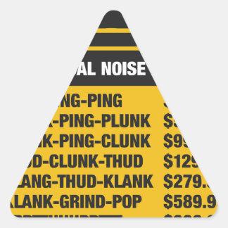 Mechanical Noise Price List Triangle Sticker