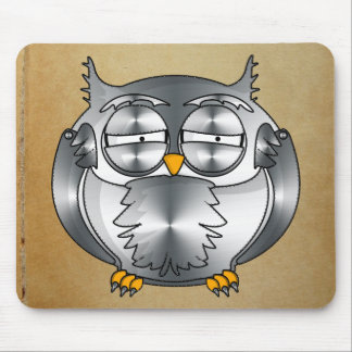 mechanical owl mouse pad