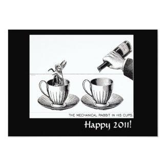 Mechanical Rabbit New Years Eve invite