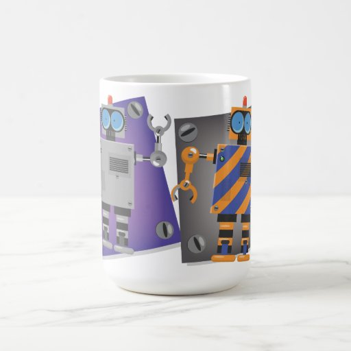 Mechanical Robot Cartoon Classic White Coffee Mug