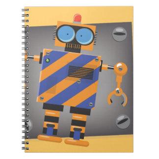 Mechanical Robot Cartoon Notebook