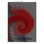 Mechanical Shell. Red and Gray Digital Art. Greeting Card