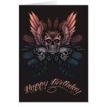 Mechanical Skull Birthday Greeting Card