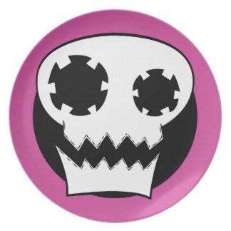 Mechanical Skull Pink Target Plate