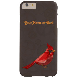 Mechanical Steampunk Cardinal in Faux Metallics Barely There iPhone 6 Plus Case
