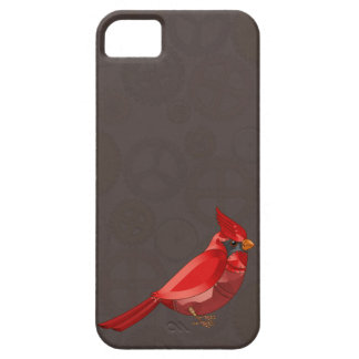 Mechanical Steampunk Cardinal in Faux Metallics iPhone SE/5/5s Case
