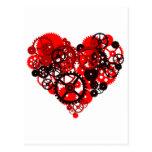 MECHANICAL STEAMPUNK HEART POST CARD