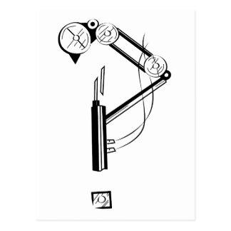 Mechanical Steampunk Interrobang Postcard