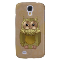 Mechanical Steampunk Owl in Faux Metallic Colors Samsung Galaxy S4 Case