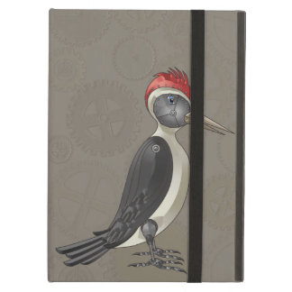 Mechanical Steampunk Woodpecker in Faux Metallics Case For iPad Air