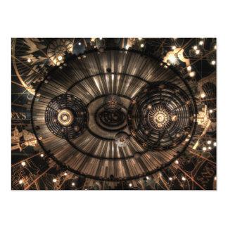 Mechanical Steampunk Zodiac Constellations Card