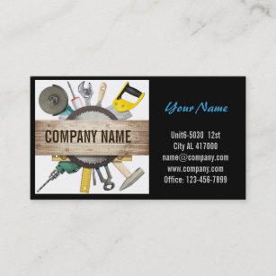 Handyman business cards templates zazzle mechanical tools handyman carpentry construction business card fbccfo Choice Image