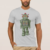Mechanical Toy Robot Shirt Silver