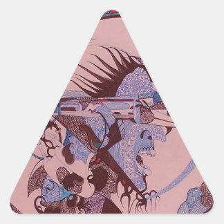 Mechanical Triangle Sticker
