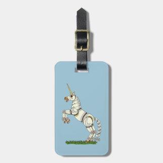 Mechanical Unicorn Luggage Tag