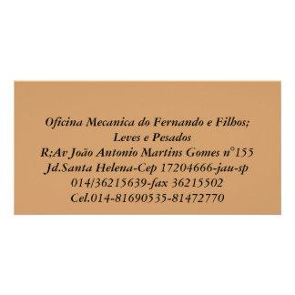 Mechanical workshop of Fernando and Filhos;   Ligh Photo Card