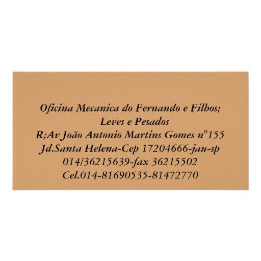 Mechanical workshop of Fernando and Filhos;   Ligh Picture Card
