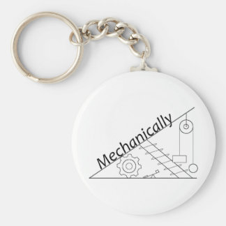 Mechanically Inclined Basic Round Button Keychain