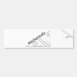 Mechanically Inclined Car Bumper Sticker
