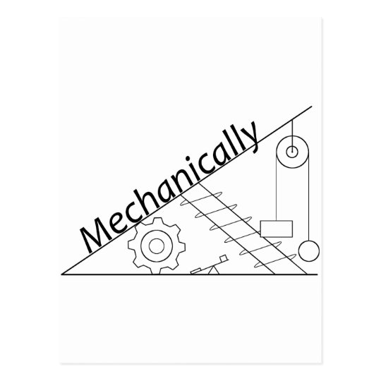 Mechanically Inclined Postcard